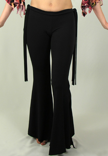 Lycra Flare Bottom Pants with Ties