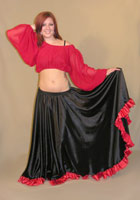 Full Satin Gypsy Skirt 2