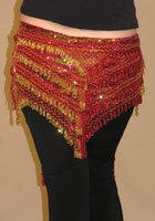 Sequin/Beaded Hip Scarf