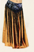 Velvet Belt Long Fringe