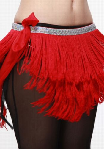 Sequin/Fringed Hip Scarf