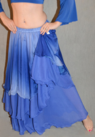 Gradient 3 Tier Poly Chiffon Skirt